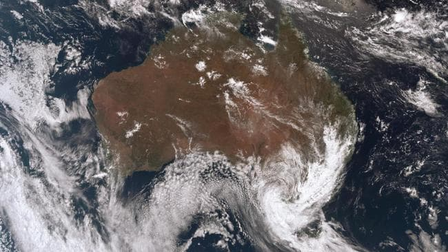 Satellite images show the trough across the country's southeast. Picture: Bureau of Meteorology.