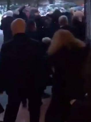 The fight started after a funeral in Glasgow. Picture: Twitter