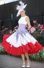 2015 Melbourne Cup Day at Flemington Racecourse. Myer Fashion in the Field. Crystal Kimber. Picture: David Caird.