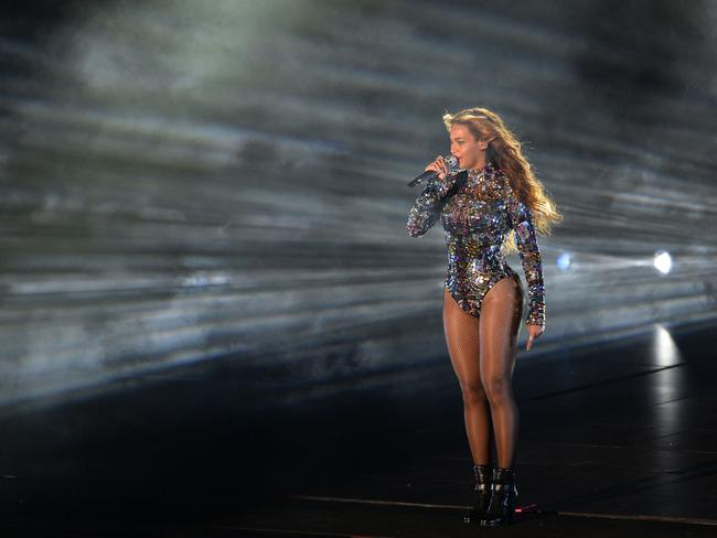 Beyonce performs on stage at the MTV Video Music Awards (VMA), August 24, 2014 at The Forum in Inglewood, California. Picture: AFP