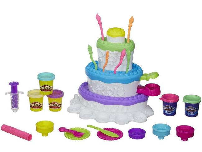 The toy ... Play-Doh's Sweet Shoppe Cake Mountain playset. Picture: Hasbro