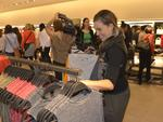 Shoppers were excited to see the products inside the new Zara store at Garden City, which opened this morning. Picture: Theo Fakos
