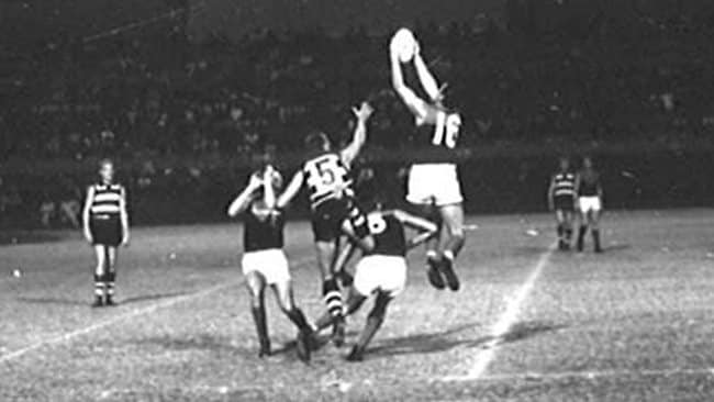Action from the Melbourne v Geelong match in Hawaii in 1963.