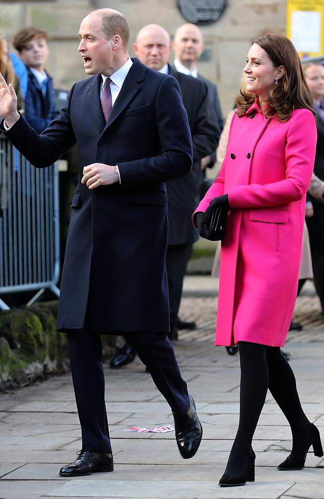 Prince William and Catherine in Coventry. Picture: Getty Images
