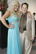 Brynne and Geoffrey Edelsten at his book launch in November, 2011. Picture: Julie Kiriacoudis.
