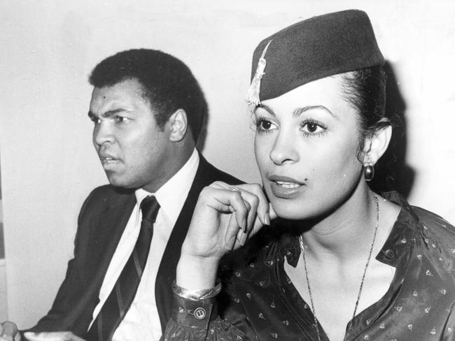 Muhammad Ali and his third wife Veronica.