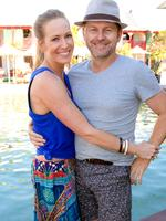 Emma and Peter Milner at the Hawaiian Group Lunch at Cable Beach Resort and Spa. Picture: Brett Barnett