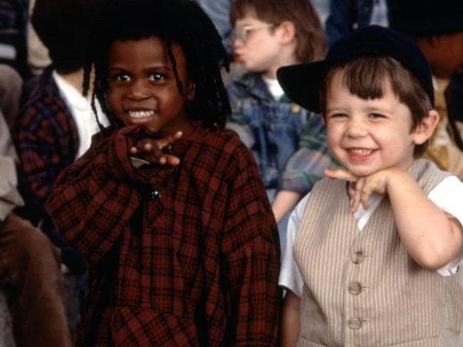 Child stars ... Ross Elliot Bagley (left) and Zachary Mabry walk the red carpet following the release of 'The Little Rascals' in 1994. Picture: Universal Pictures