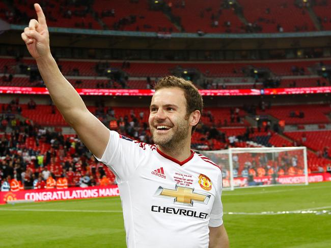 Manchester United's Spanish midfielder Juan Mata is one player who would struggle to get a work permit under the current criteria if the UK leaves the EU. Picture: AFP/Ian Kington
