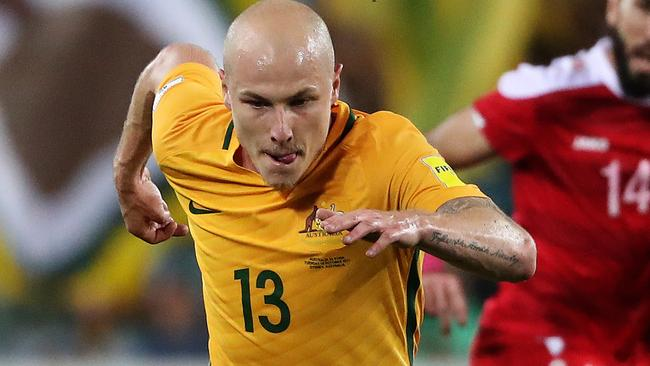 The Socceroos looked much livelier after Mooy came on. Picture: Brett Costello