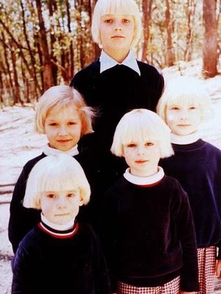 The children were made to look identical.