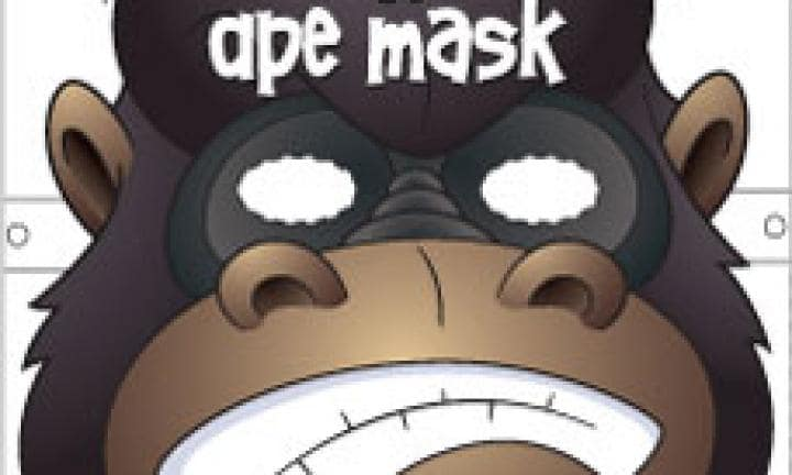 Ape face mask template