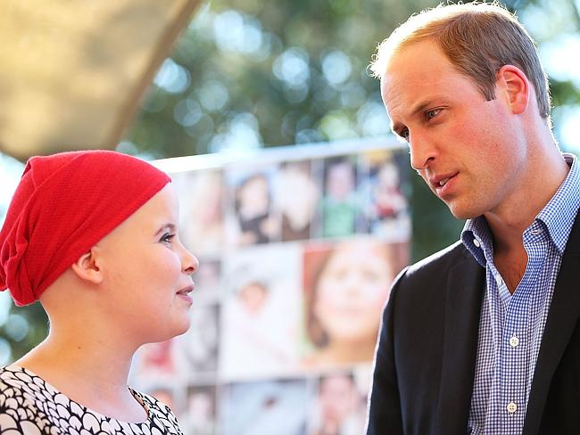 Prince William at Manly's Bear Cottage.