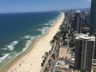 Caley McDonald snaps a shot of the Gold Coast from Soul Surfers Paradise.