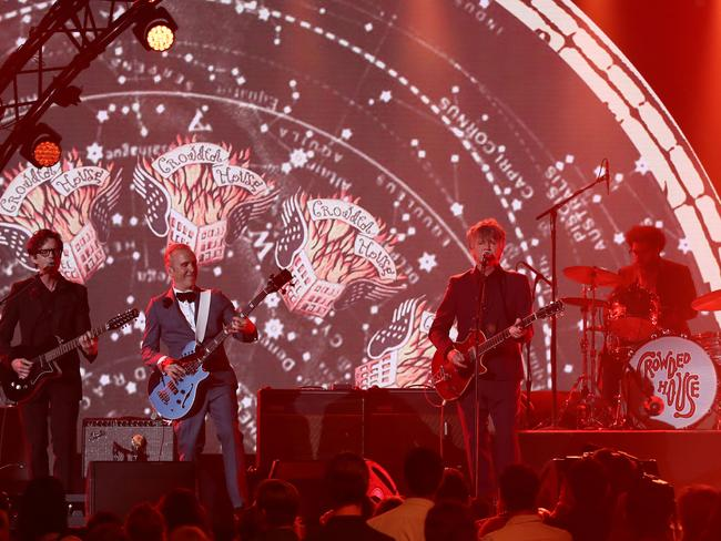 Crowded House perform on stage during the 30th Annual ARIA Awards. Picture: Getty