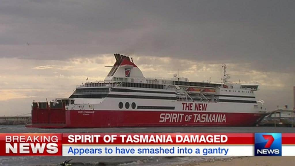 Spirit Of Tasmania Crash Damaged Ship Broke Its Moorings
