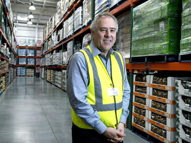 New locations ... Costco's Australia's CEO Patrick Noone. Picture: Luis Ascui