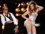 <p>Renowned for her rear ... Jennifer Lopez shakes it for Tom Cruise at the MTV Movie Awards in Universal City, California, 06/06/2010.</p>