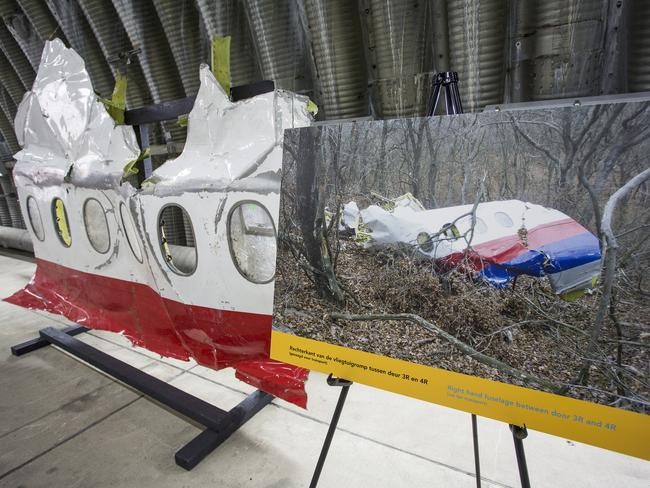 Skeleton remains ... Paint traces found on the MH17 structure enabled investigators to identify the Buk missile and its origins. Picture: Ella Pellegrini