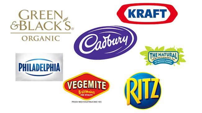 Mondelez (formerly Kraft Foods) brands.