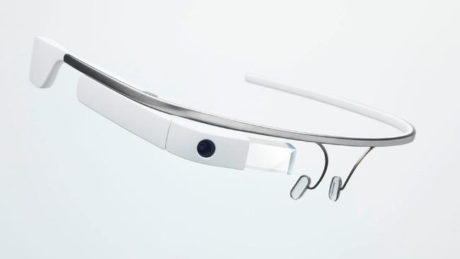 Internet to your eye ... Google Glass delivered a smartphone connection and updates to a tiny screen above the wearer's right eye.