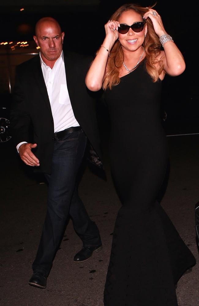 Mariah Carey pictured with Anello back in June 2016. Picture: Splash News Australia