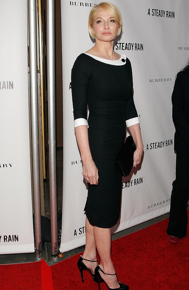 "Actress Ellen Barkin at the ""A Steady Rain"" Broadway in the signature dress. Picture: Getty Images"