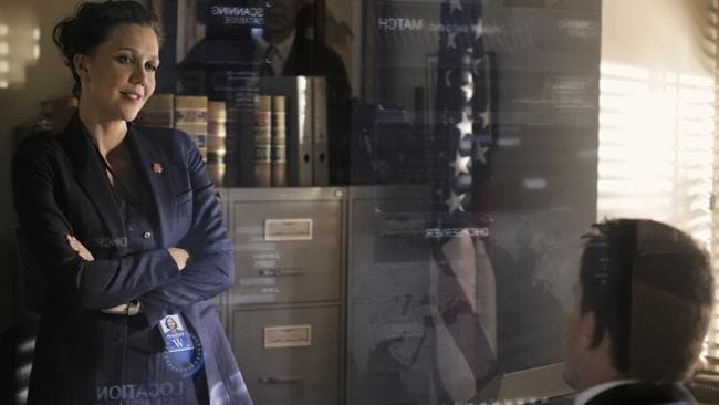 Maggie Gyllenhaal and Channing Tatum in a scene from Columbia Pictures' film White House Down.