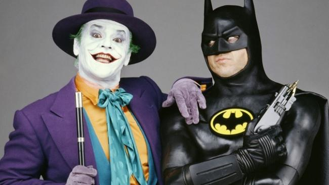 Jack Nicholson as the Joker and Michael Keaton as Batman.