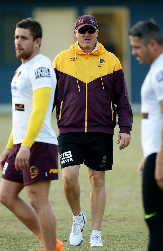 Broncos coach Anthony Griffin at Brisbane training.