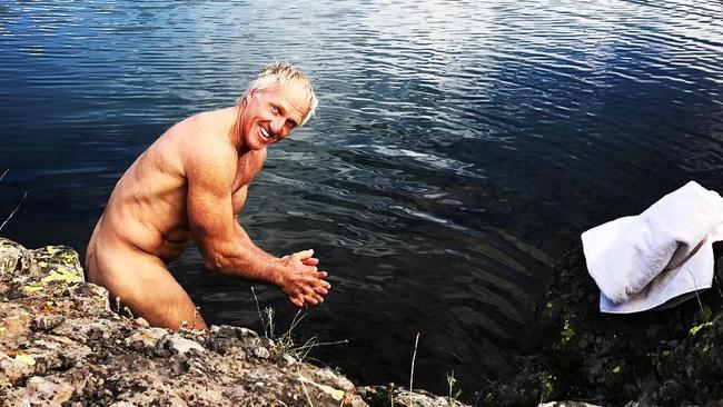 Do you know who doesn't have a dad bod? Greg Norman. Just look at that weapon. Picture: Instagram