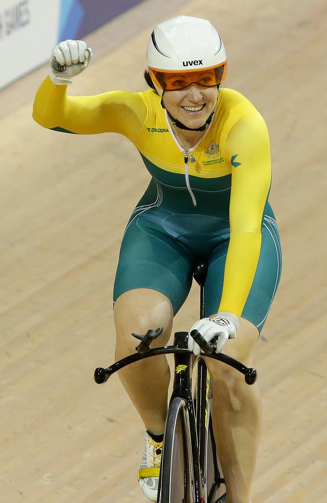 Anna Meares won the 500m time trial one day one.