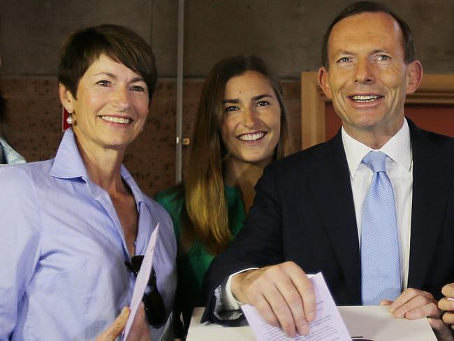 Despite their different opinions on the same-sex marriage debate, former Prime Minister Tony Abbott supports his daughters decision to vote yes. Photo By Gary Ramage