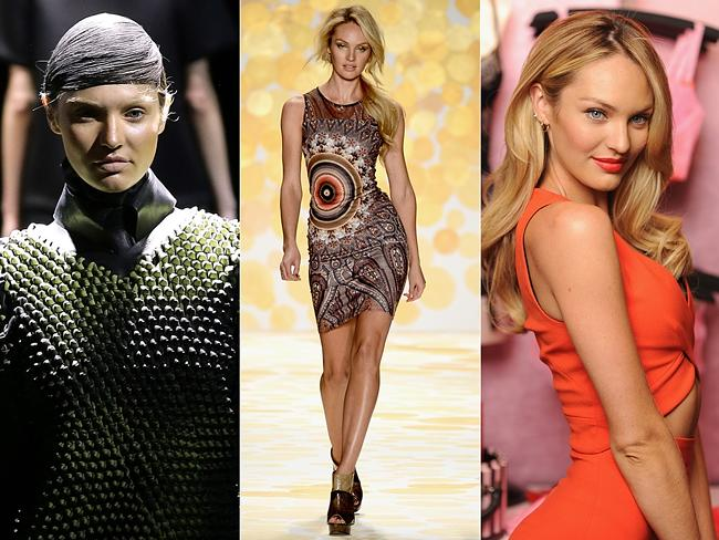 Model Transformations at New York Fashion Week 2014. Candice Swanepoel walked for Alexander Wang on Tuesday looking vastly di...