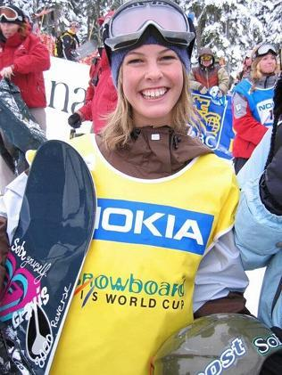 Torah Bright at Whistler as a young snowboarder in 2003.