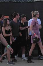 Jude Law treated his three kids to a nice family outing at the Coachella festival. Picture: BackGrid