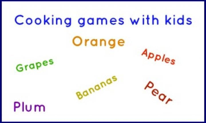 Cooking games with kids: Fruit salad search