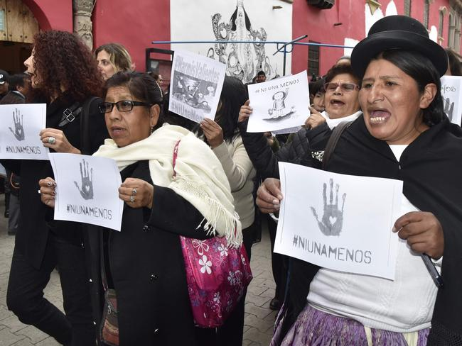 Hands off. The gruesome rape and murder of a high school student in Argentina has shocked the country. Picture: Aizar Raldes.