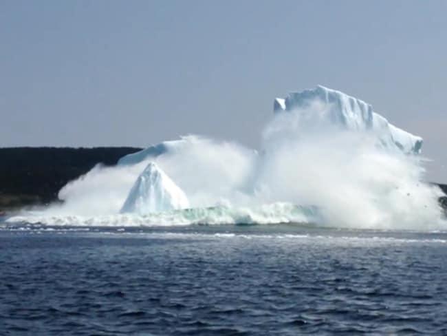 Chunks of ice come smashing down.