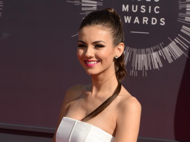 Victoria Justice condemned the leaked nude photos as fake.