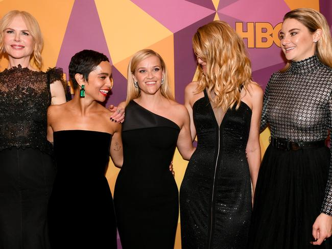 The Big Little Lies crew at the HBO after-party. Picture: Emma McIntyre/Getty Images.