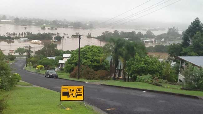 Gympie, north of Brisbane, has been flooded for the fifth time in two years. Picture: Kathleen Donaghey