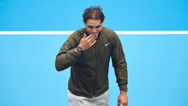 Rafael Nadal gestures after his win against Tomas Berdych of the Czech Republic during their men's semi-final match on day eight of the 2013 China Open. Picture: Getty
