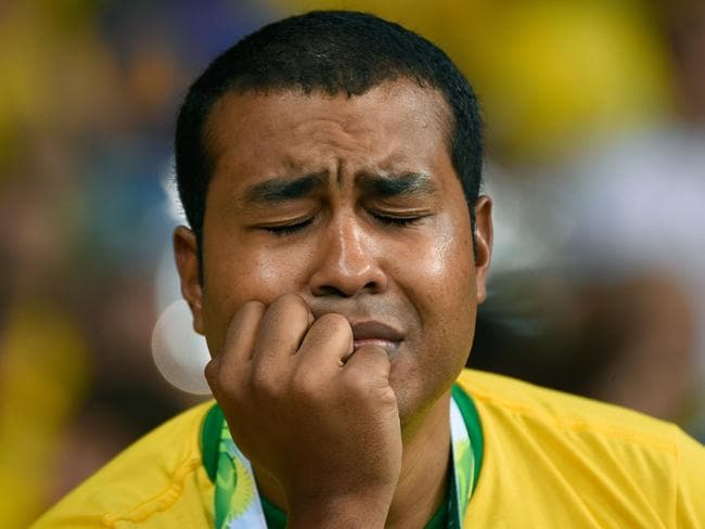 Brazil's fans started crying 25 minutes into their nation's semi-final against Germany.