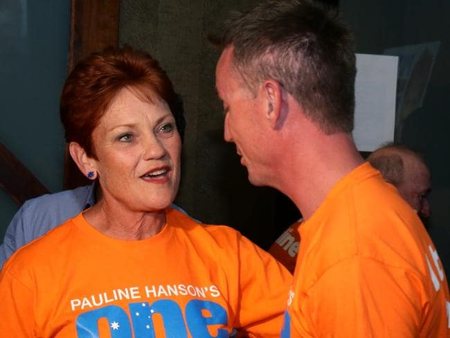 After gaining a Senate seat in last year's federal election Pauline Hanson said she couldn't have done it without James Ashby. Photographer: Liam Kidston.