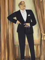 'Well Dressed for a Sydney Audience,' Barry Humphries, entertainer, by Rodney Pople.