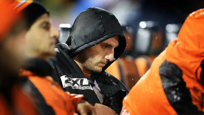A downcast Robbie Farah was left to watch on from the bench.