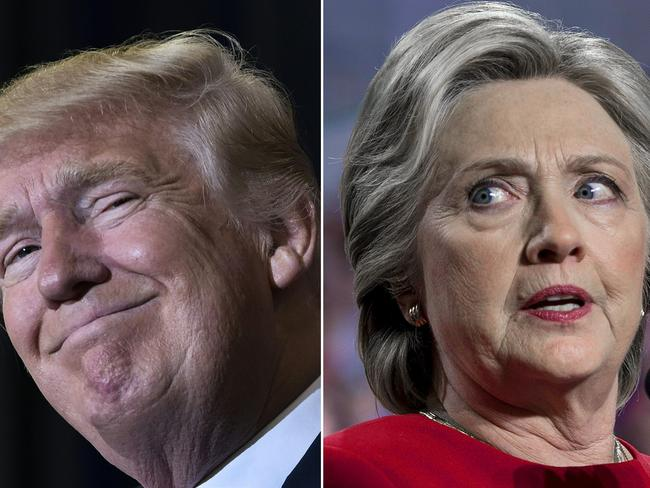 Donald Trump has again nudged out Hillary Clinton — this time for TIME's Person of the Year award. Picture: AFP