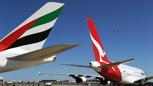 Qantas is entering a partnership with Emirates that will see all flights to Europe go via Dubai. Picture: AFP