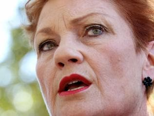 One Nation leader Pauline Hanson campaigning in Mandurah, south of Perth, Monday, March 6, 2017. (AAP Image/Richard Wainwright) NO ARCHIVING